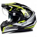 Enduro helma NAXA černo - žlutá